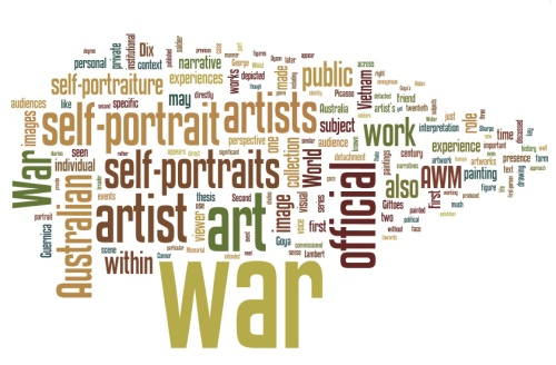 "Wordle - Sam Bowker - The PhD Thesis - ""Their War and Mine"""