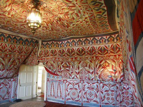 Another view of the 'Tent Room' of Doddington Hall, Lincolnshire, UK. This is a restored late-nineteenth century Egyptian Khayamiya.